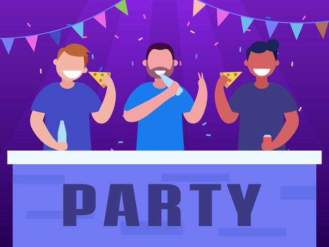 Funky fiestas y reuniones vectores