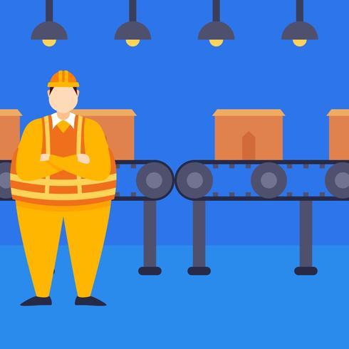 Uitstekende fabrieksarbeidersvectoren