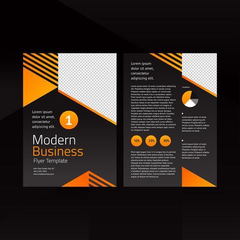 Modèle de Flyer de business moderne orange