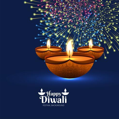 De mooie van de de groetkaart van het diwalifestival kleurrijke decoratieve rug