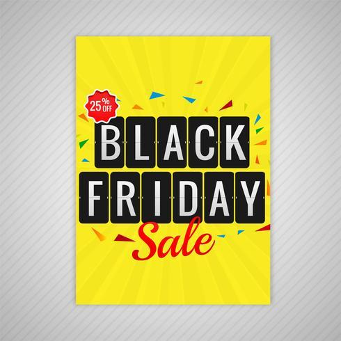Ilustración de vector de plantilla de venta de folleto de viernes negro abstracto