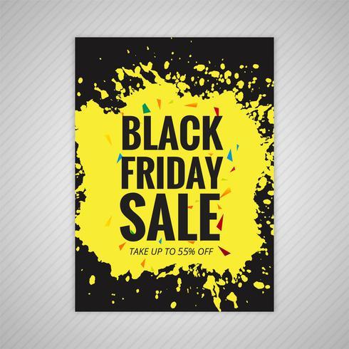 Vecteur de conception de modèle de vente noir élégant vendredi