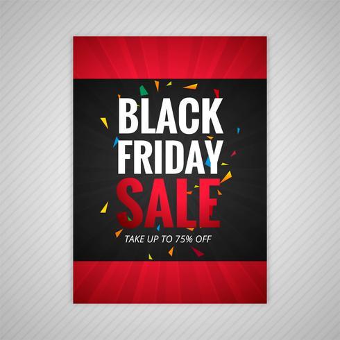 Vector de diseño de cartel de venta de viernes negro
