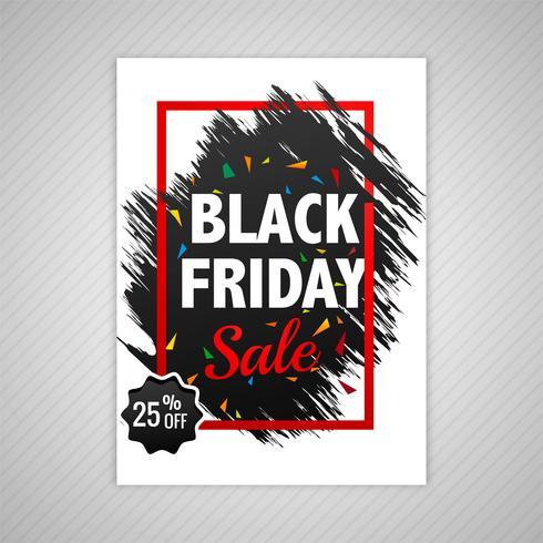 Eleganter schwarzer Freitag-Verkaufsschablonen-Designvektor