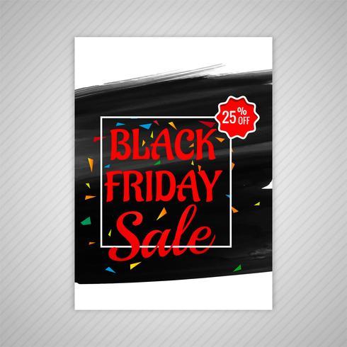 Hermoso diseño de plantilla de folleto de venta de viernes negro