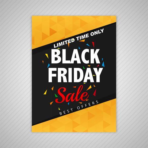 Elegante zwarte vrijdag verkoop sjabloon ontwerp vector