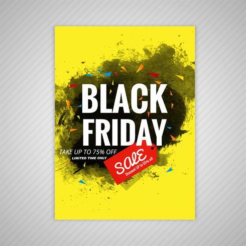 Abstracte zwarte vrijdag brochure verkoop sjabloon vectorillustratie