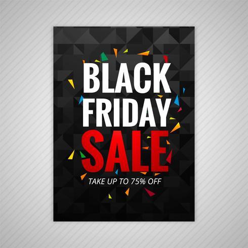 Vecteur de conception affiche vendredi noir vente