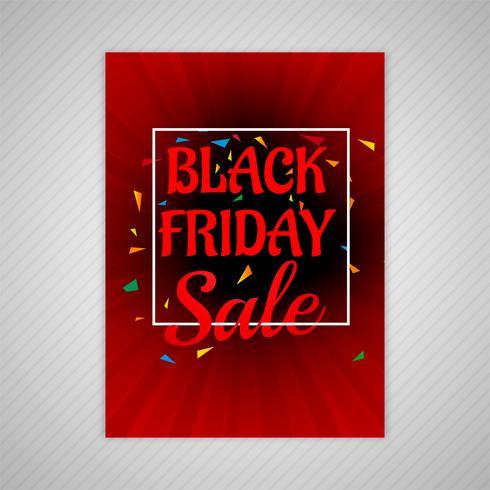 Schönes schwarzes Freitag-Verkaufsbroschüren-Schablonendesign