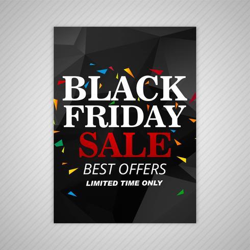 Projeto preto bonito do molde do folheto da venda de sexta-feira