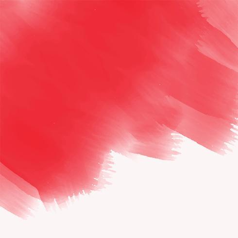 elegant röd akvarell pensel stroke konsistens