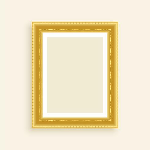 marco de fotos de oro de lujo vintage