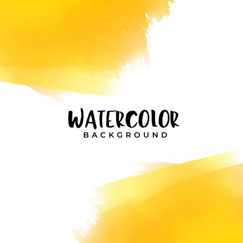 yellow watercolor background with text space