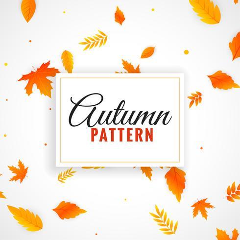 hermosas hojas de otoño patrón de diseño
