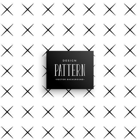 diseño de fondo de patrón de cruz mínima