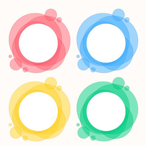 colorido conjunto de marcos redondos circulares