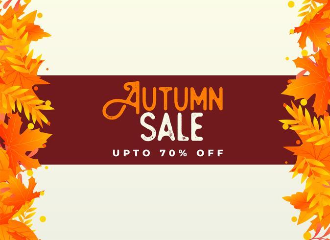 sfondo autunno vendita con foglie di arancio