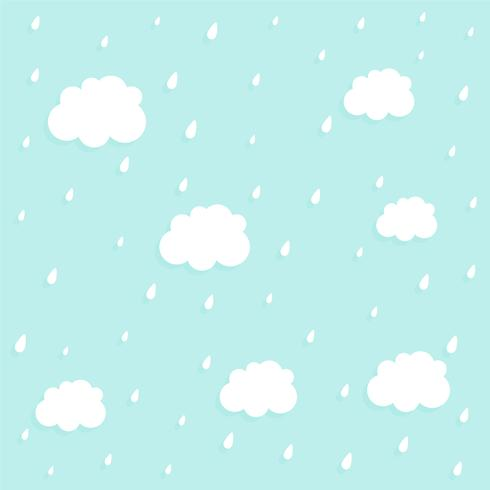 sfondo carino nube e pioggia