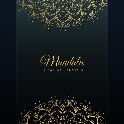fundo escuro com decoração de mandala dourada