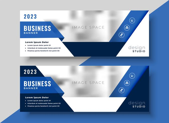 design de bandeira azul corporativa para o seu negócio