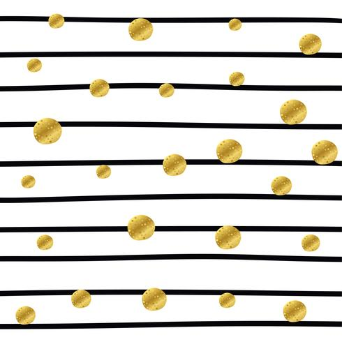 motivo a strisce con punti dorati