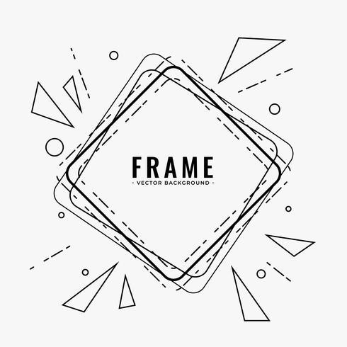 línea abstracta marco diseño de fondo