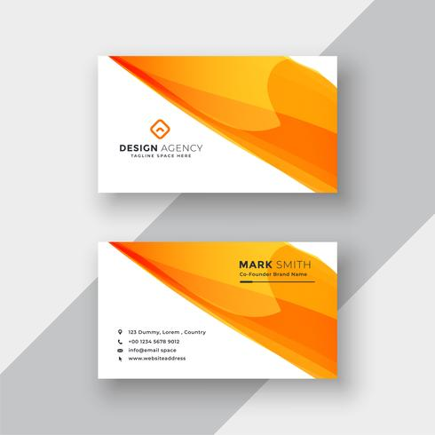modelo de cartão laranja abstrata