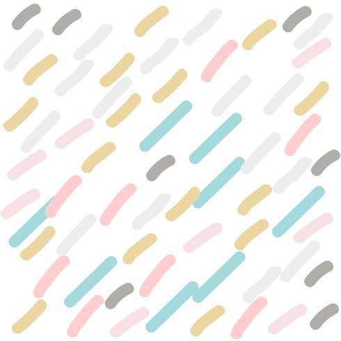 Dibujado a mano lindo patrón de rayas en colores pastel
