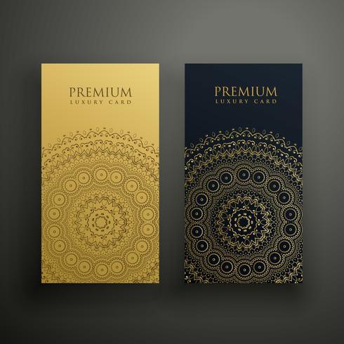 diseño de tarjeta de visita premium mandala