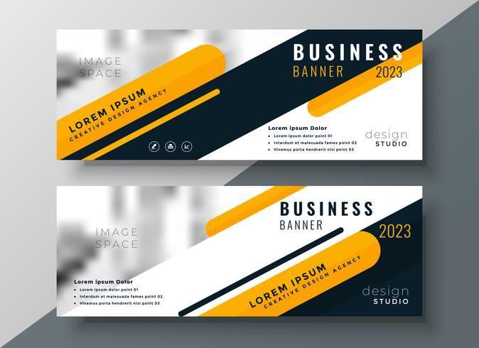 modernes gelbes Geschäftsfahnendesign