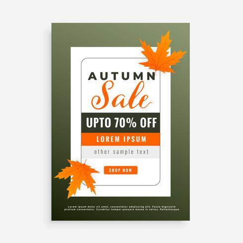 manifesto di progettazione di autunno vendita brochure