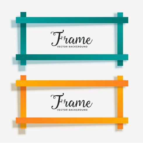 set van lege geometrische frame banner