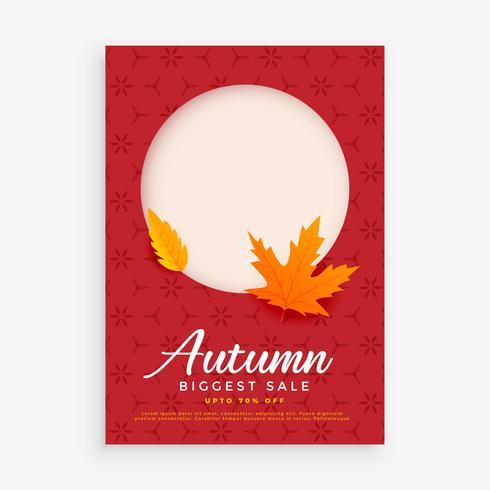 conception de flyer vente automne avec un espace pour l'image ou le texte