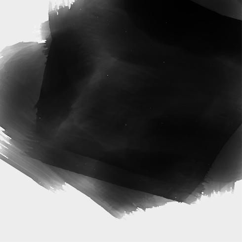 Fondo de textura de acuarela negra pintado a mano