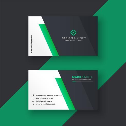Grön visitkortdesign i minimal stil
