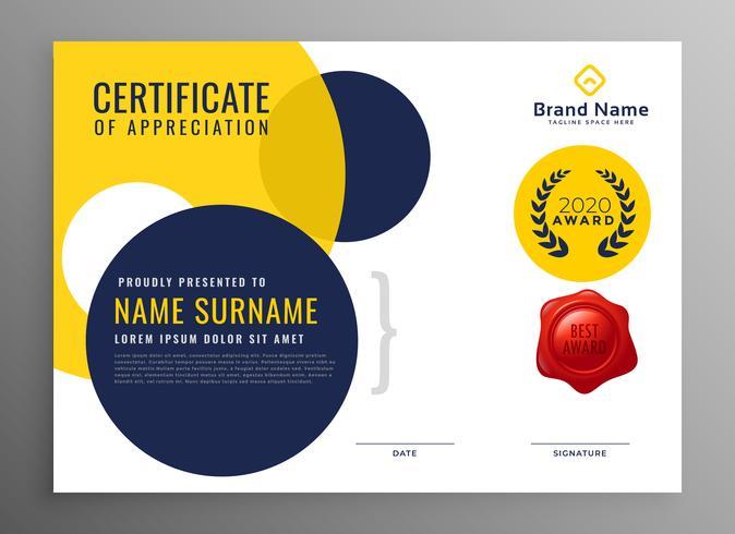 certificato di diploma moderno di progettazione di apprezzamento