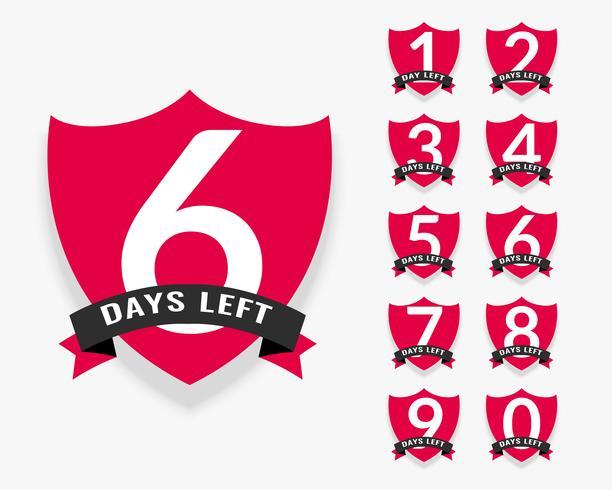 número de días que quedan diseño de la insignia