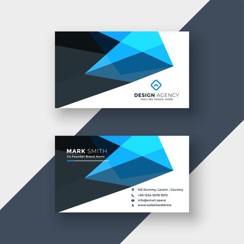 plantilla de diseño abstracto azul tarjeta de visita
