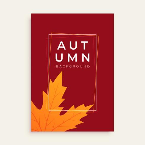 pulito design autunno flyer con lo spazio del testo