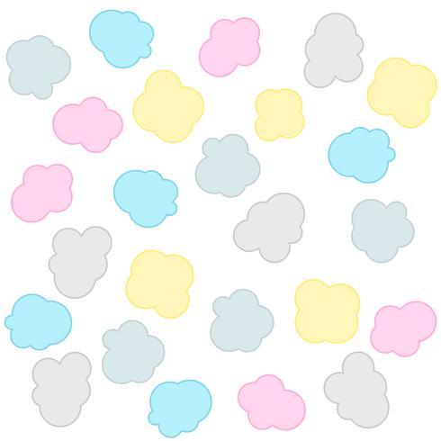 sfondo modello nuvole colorate morbide