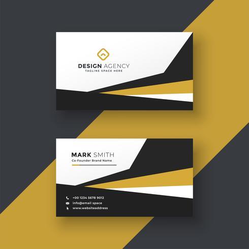 diseño de tarjeta de visita profesional abstracto