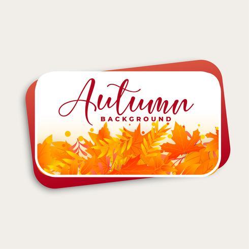 disegno di sfondo autunno con foglie di autunno