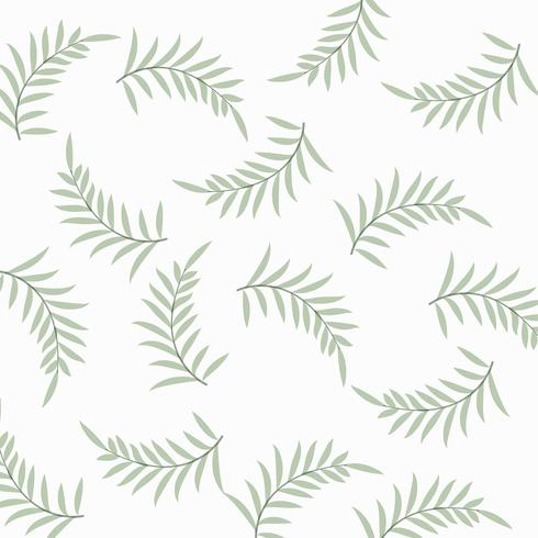 Patrón de naturaleza elegante con hojas.