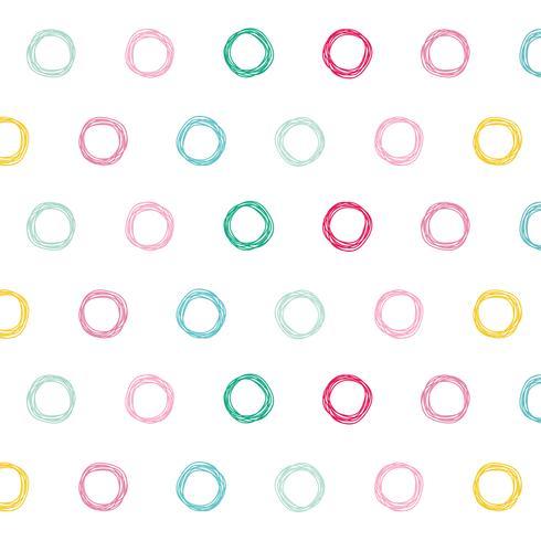 Fondo de diseño de patrón de círculos coloridos