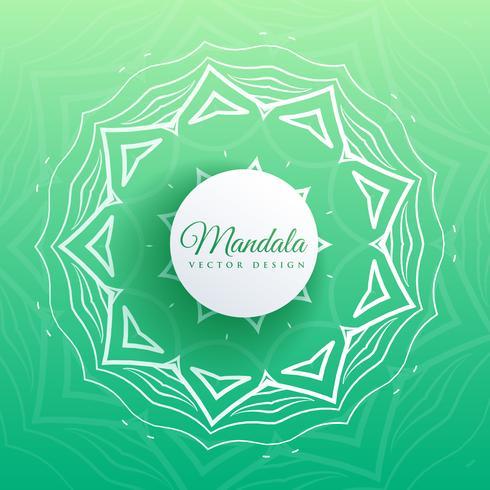 Fondo de diseño de mandala indio