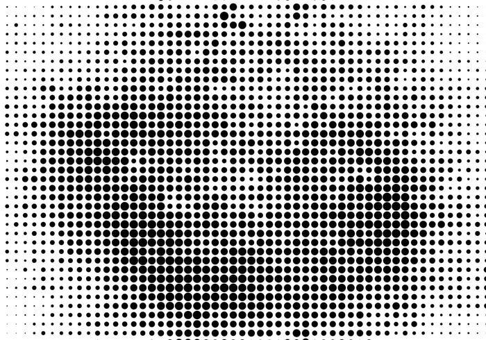 Fundo de meio-tom preto vector