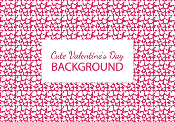 Cute Heart Pattern Background