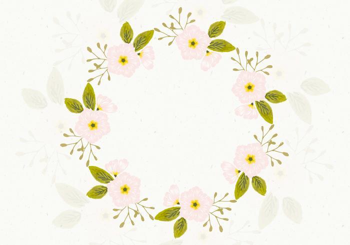 Hermoso fondo floral de la guirnalda