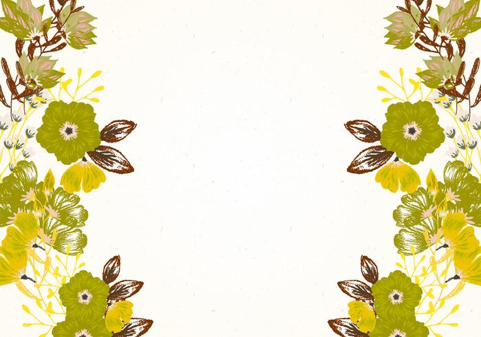 Beautiful Olive Green Floral Background