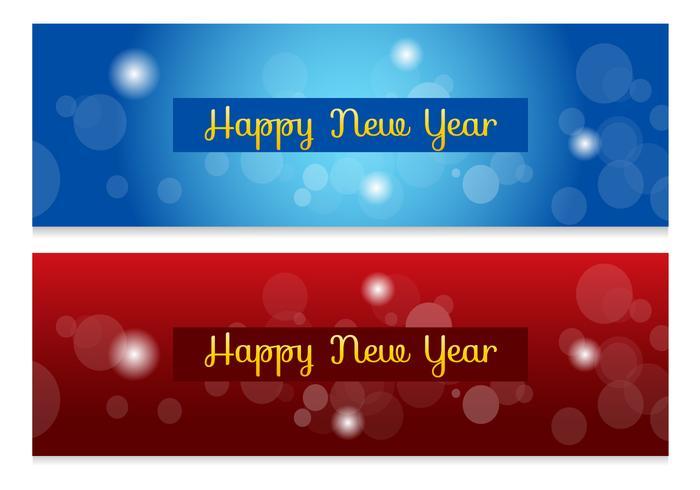 Banners abstratas de ano novo